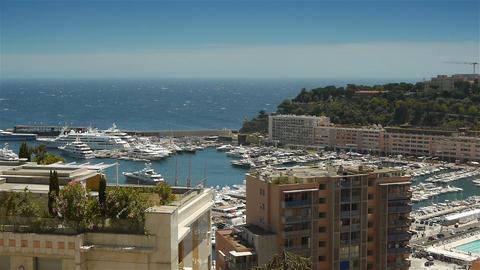 Bay and harbor at Monaco, Cote D'Azur France Live Action