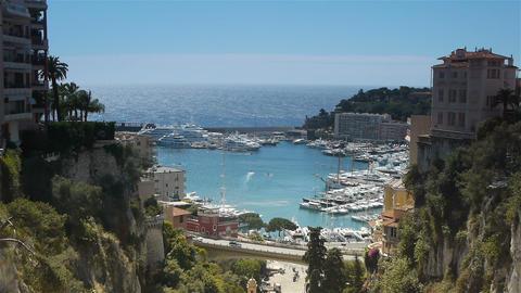 Panorama of Monaco, Cote D'Azur France Live Action