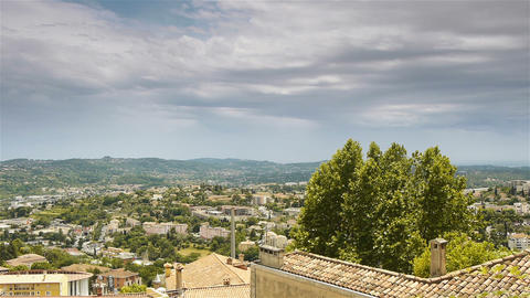 Scenic overview of Grasse, Cote D'Azur France Live Action