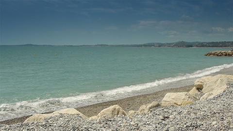 Coastline of Crocs de Gagnes, Cote D'Azur France Live Action