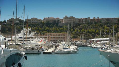 Port of Monaco, Cote D'Azur France Live Action