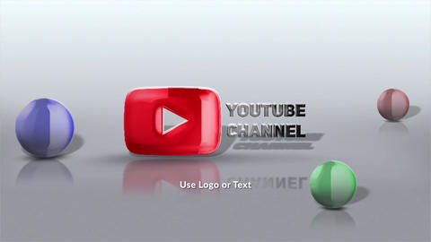 Glassy Spheres Logo Reveal After Effects Template