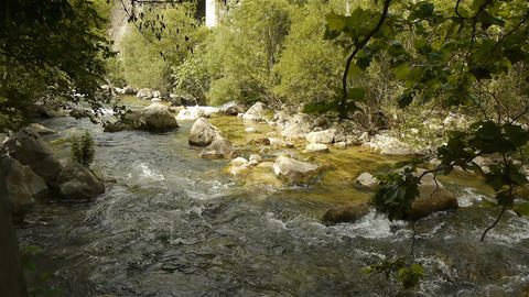 Wild water at Cote D'Azur, South France Live Action