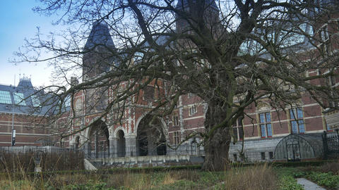 AMSTERDAM, THE NETHERLANDS - JANUARY 22, 2015: Garden and exterior of the Footage