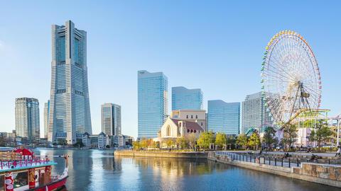 Yokohama cityscape timelapse in Japan time lapse Live Action
