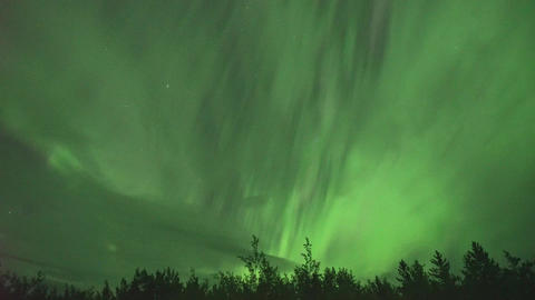aurora borealis (northern lights) in Whitehorse, Canada Stock Video Footage