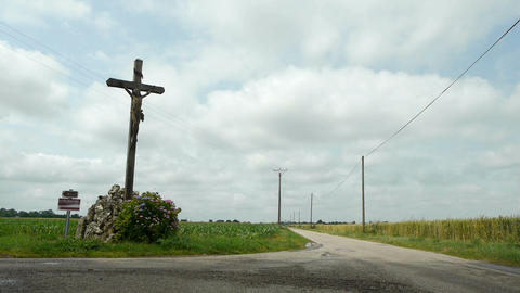 Holy cross along the way Footage