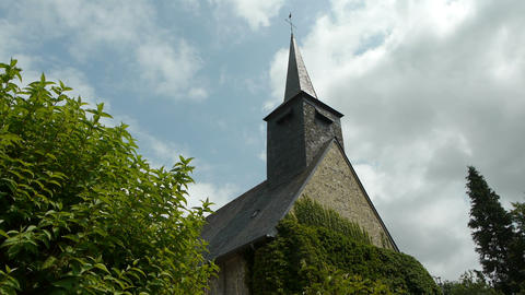 Exterior of a french church Footage