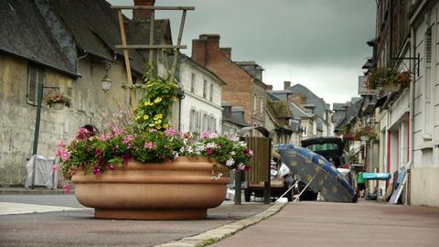 Flea market in a little village in Normandy, France Live Action