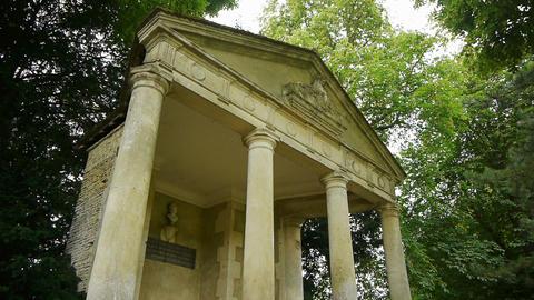 Little romantic greek temple at Canon Castle, France Footage