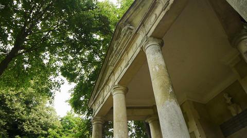 Little romantic greek temple at a castle garden, France Live Action