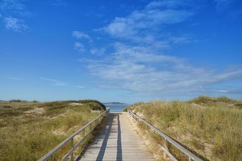Beach close to O Grove, Galicia, Spain Photo