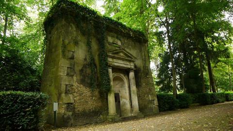 Little romantic dovecote at a castle garden, France Live Action