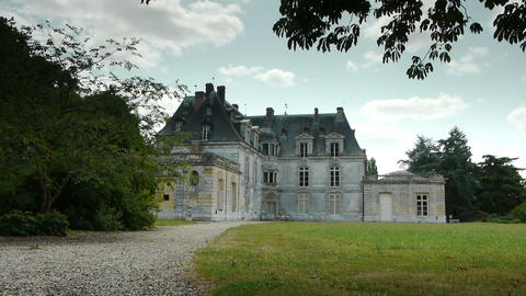 ACQUIGNY, FR - JULY 10. 2015: Castle of Acquigny Footage