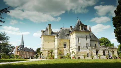 ACQUIGNY, FR - JULY 10. 2015: Acquigny castle Live Action