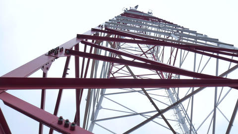 Metal mast of mobile communication Footage