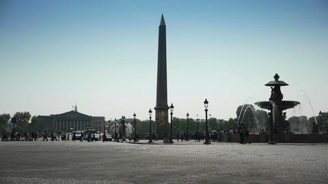 Place de Concorde in Paris, France Live Action