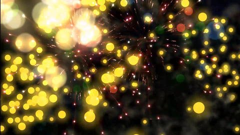 Fireworks Motion Graphics Animation Background Loop HD Animation