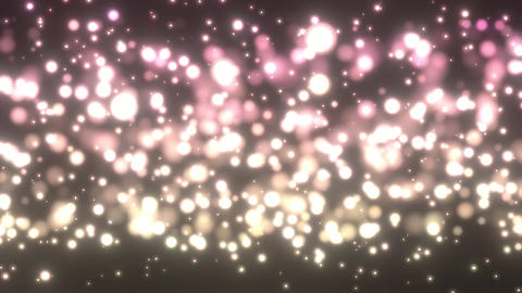 Pink Gold Particles Stock Video Footage