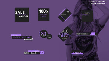Price Tags and Titles Motion Graphics Template
