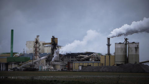 Industrial panorama in France Live Action