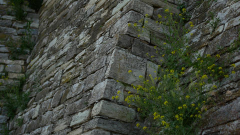 Old stone wall in an ancient castle Footage