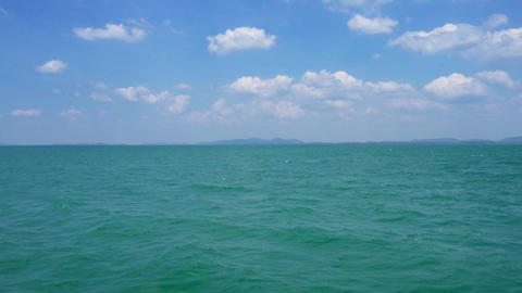 Andaman sea surface, shooting from boat, Thailand Footage