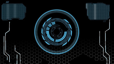 Sci fi hi-tech scanning user interface design element HUD After Effects Template