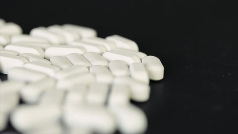 Dollying Across Pills Supplement stock footage