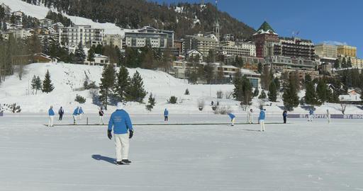 St Moritz cricket on ice Footage