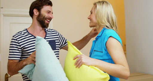 Couple with pillow Live Action