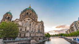Berlin Germany time lapse 4K, city skyline timelapse at Berlin Cathedral Footage