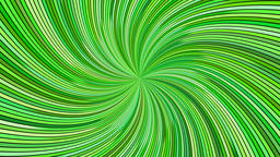 Green rotating psychedelic swirling ray burst stripes - seamless loop Animación