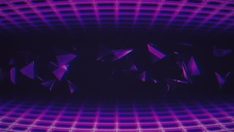 Retro Wave VJ Loop Animation