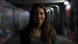 Portrait of a Young Woman Smiling Stock Video Footage