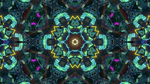Colorful Disco Kaleidoscope Background Animation