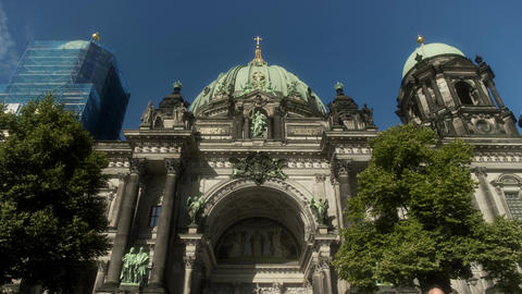 Berlin Cathedral Front Entrance Live Action