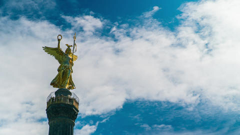Berlin Victory Column Angel of Peace Time Lapse Live Action