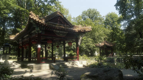 Chinese Garden Zen Garden Royal Baths Park Warsaw Live Action