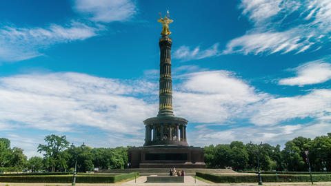 Berlin Victory Column Wide Time Lapse Live Action