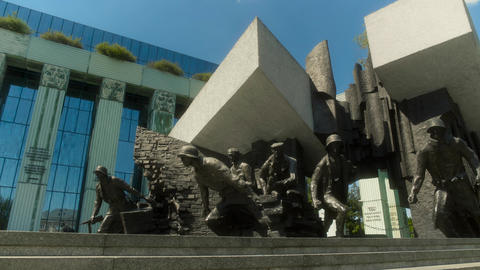 The Warsaw Uprising Monument Warsaw Poland Live Action