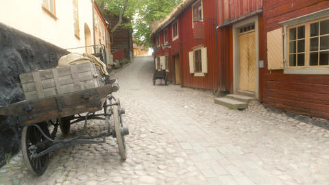 Old Town Cobblestone Street Footage