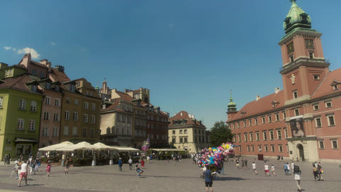 Main City Square Old Town Warsaw Poland Live Action