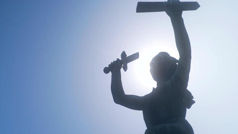Peace Monument Statue Close up Footage