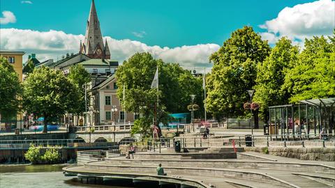 Stora Orebro Sweden Time Lapse Footage