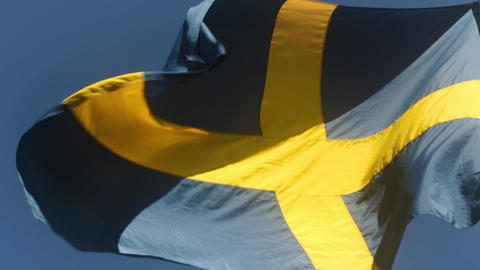 Sweden Flag in the Breeze Live Action
