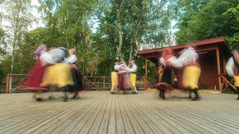 Traditional Swedish Dance Time Lapse 영상물