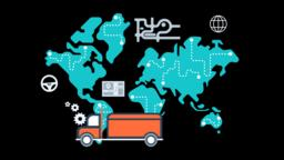 Courier Delivery Service through Ground Animation Transparent Vector Video Animation