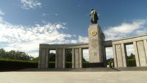 Soviet War Memorial in Berlin Germany Footage