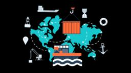 Maritime Transport Global Logistics Network Animation... Stock Video Footage
